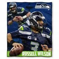 Seattle Seahawks Russell Wilson Silk Touch Blanket