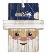 Seattle Seahawks Santa Ornament