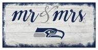 Seattle Seahawks Script Mr. & Mrs. Sign