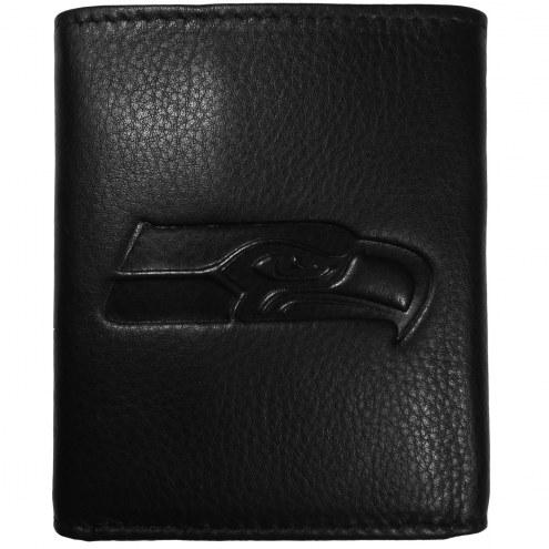 Seattle Seahawks Embossed Leather Tri-fold Wallet