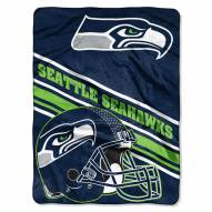 Seattle Seahawks Slant Raschel Blanket