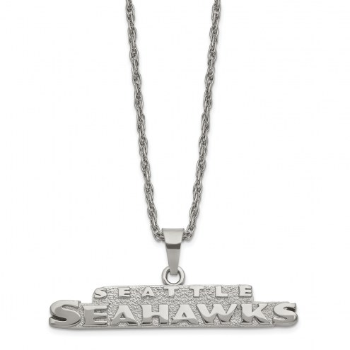 Seattle Seahawks Stainless Steel Pendant on Chain