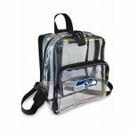 Seattle Seahawks Stadium Friendly Clear Mini Backpack