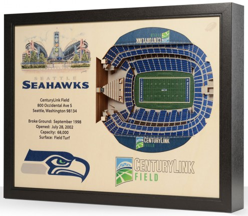 Seattle Seahawks 25-Layer StadiumViews 3D Wall Art