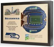 Seattle Seahawks 25-Layer StadiumViews 3D Wall Art
