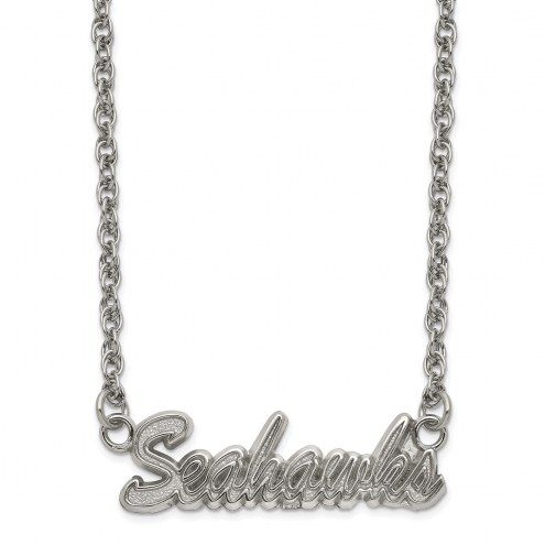 Seattle Seahawks Stainless Steel Script Necklace