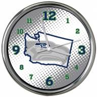 Seattle Seahawks State of Mind Chrome Clock