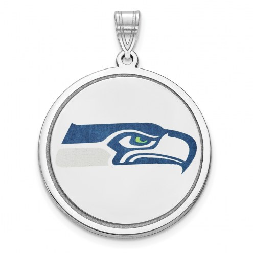 Seattle Seahawks Sterling Silver Disc Pendant