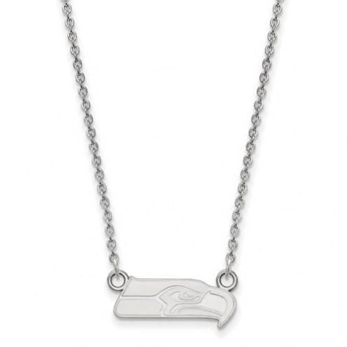 Seattle Seahawks Sterling Silver Small Pendant with Necklace