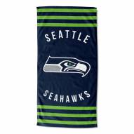 Seattle Seahawks Stripes Beach Towel