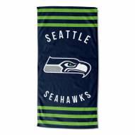 Seattle Seahawks Stripes Beach Towel