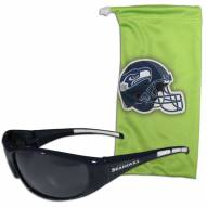 Seattle Seahawks Sunglasses and Bag Set