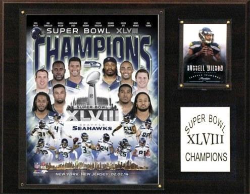 "Seattle Seahawks 12"" x 15"" Super Bowl XLVIII Champions Plaque"