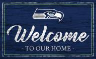 Seattle Seahawks Team Color Welcome Sign