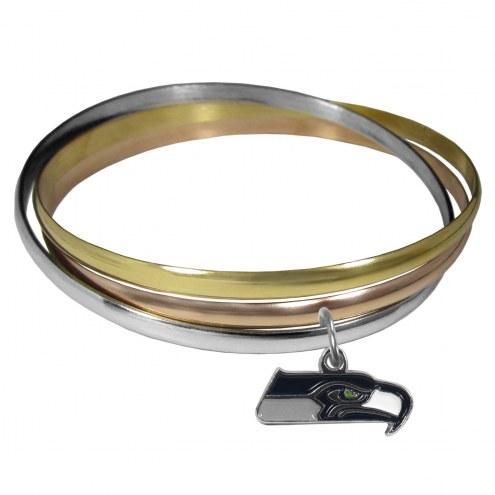 Seattle Seahawks Tri-color Bangle Bracelet