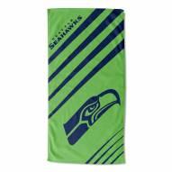 Seattle Seahawks Upward Beach Towel