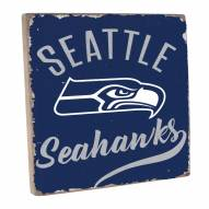 Seattle Seahawks Vintage Square Wall Sign