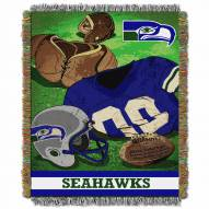 Seattle Seahawks Vintage Throw Blanket