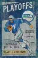 Seattle Seahawks Vintage Wall Art