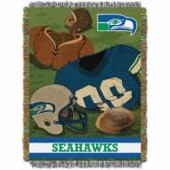 Seattle Seahawks Vintage Woven Tapestry Throw Blanket