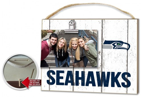 Seattle Seahawks Weathered Logo Photo Frame