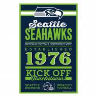 Seattle Seahawks Established Wood Sign