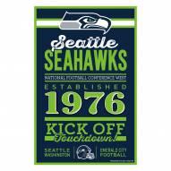 Seattle Seahawks Established Wood Sign