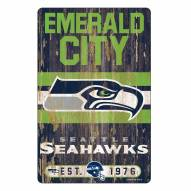 Seattle Seahawks Slogan Wood Sign