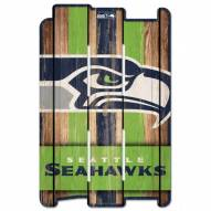 Seattle Seahawks Wood Fence Sign