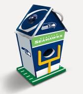 Seattle Seahawks Wood Birdhouse