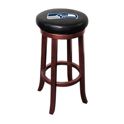 Seattle Seahawks Wooden Bar Stool
