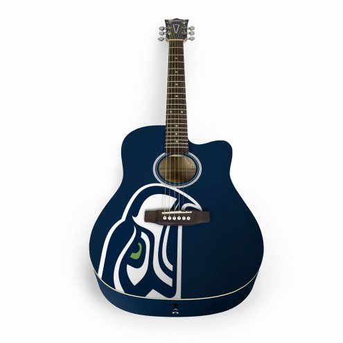Seattle Seahawks Woodrow Acoustic Guitar