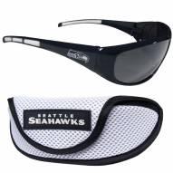 Seattle Seahawks Wrap Sunglasses and Case Set
