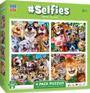Selfies 100 Piece Puzzle - 4 Pack