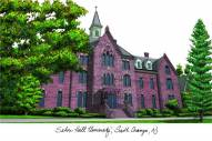 Seton Hall Pirates Campus Images Lithograph