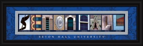 Seton Hall Pirates Campus Letter Art