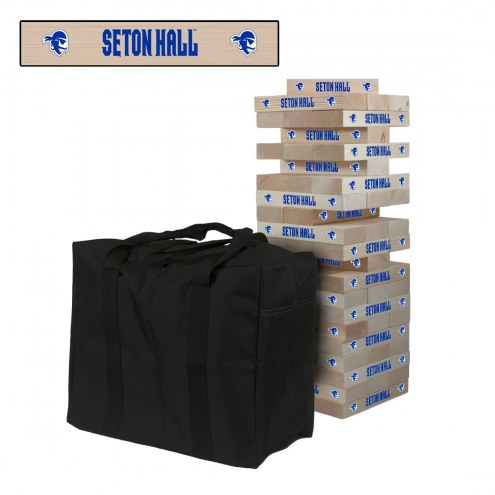 Seton Hall Pirates Giant Wooden Tumble Tower Game