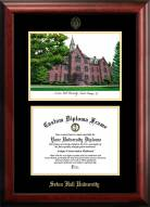 Seton Hall Pirates Gold Embossed Diploma Frame with Campus Images Lithograph