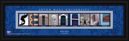 Seton Hall Pirates Personalized Campus Letter Art