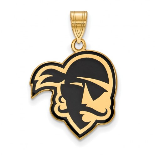 Seton Hall Pirates Sterling Silver Gold Plated Large Enameled Pendant