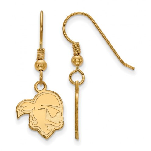 Seton Hall Pirates Sterling Silver Gold Plated Small Dangle Earrings