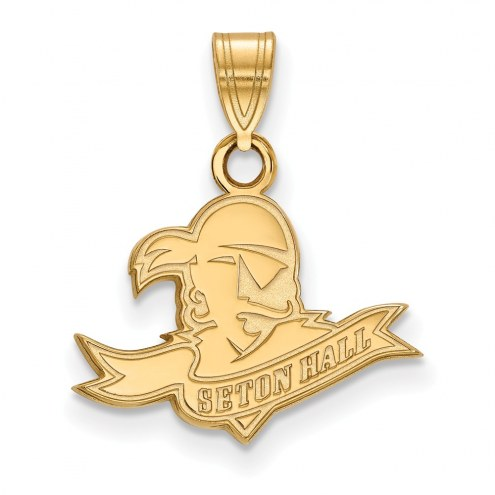 Seton Hall Pirates Sterling Silver Gold Plated Small Pendant