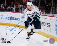 Shea Weber Signed Skating With Puck White Jersey Horizontal 8 x 10 Photo