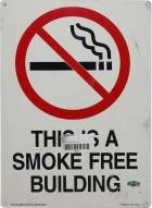 Smoke Free Building Sign From Giants Stadium (14x10)