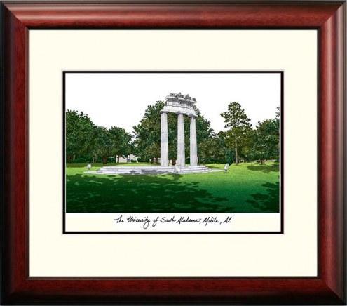 South Alabama Jaguars Alumnus Framed Lithograph