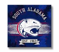 South Alabama Jaguars Banner Canvas Wall Art