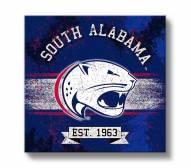 South Alabama Jaguars Banner Canvas Wall Art
