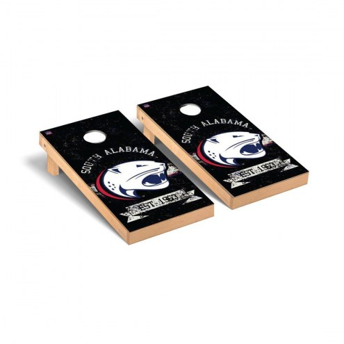 South Alabama Jaguars Banner Vintage Cornhole Game Set