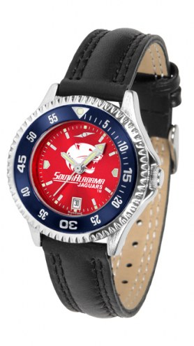 South Alabama Jaguars Competitor AnoChrome Women's Watch - Color Bezel