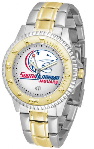 South Alabama Jaguars Competitor Two-Tone Men's Watch